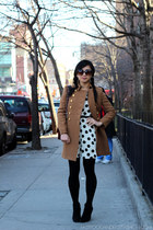 Forever 21 dress - J Crew coat - Chanel bag