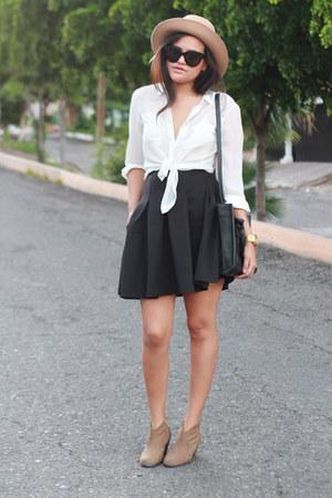 Frontrowshop hat - asos boots - Zara bag - Celine sunglasses