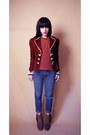 Dolce-vita-boots-cheap-monday-jeans-vintage-blazer-vintage-blouse