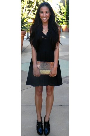 tawny Thrifted Clutch bag - black chiffon bottom BB Dakota dress