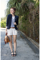 Gap blazer - Old Navy blouse - vintage accessories