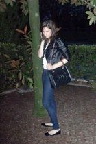 H&M jacket - Zara blouse - Zara jeans - vintage chanel purse