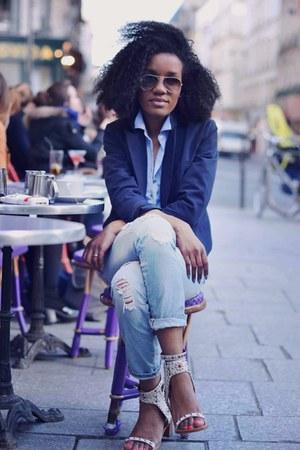 Zara jeans - Kookai jacket - Celine bag - rayban glasses - Zara watch