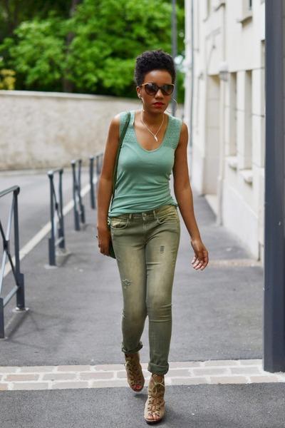 Bel Air top - H&M jeans - Dorothy Perkins sandals