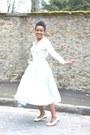 Vintage-skirt-chanel-flats-max-moi-cardigan