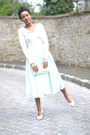Chanel-flats-vintage-skirt-max-moi-cardigan