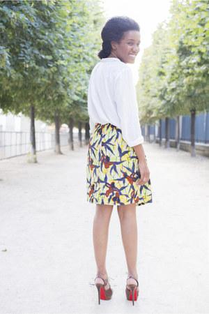 Zara shirt - Mirlande Gemain skirt - Christian Louboutin heels