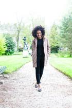 APC coat - Zara jeans - American Apparel t-shirt - Chanel flats