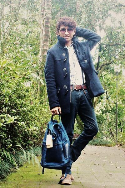Aldo Conti Milan jacket - Levis boots - pull&bear shirt - pull&bear bag