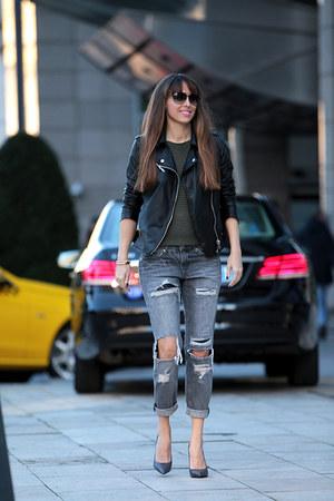SUEL sweater - Zara jeans - Stradivarius jacket - Zara heels