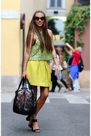 Cruciani bag - H&M skirt - H&M top
