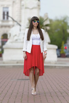 Mango skirt - F&F jacket - Primark sandals