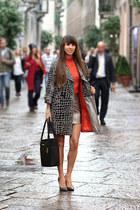 Janka Arnóczy jacket - calvin klein bag - H&M skirt