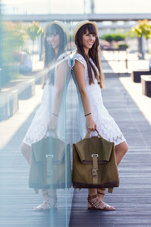 Stradivarius dress - benzol bag - Stradivarius sandals