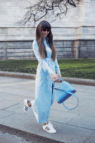 Louis Vuitton bag - Bridget & Olivia dress - Adidas sneakers