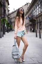 light pink Magenta top - Mango heels