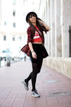 H&M shirt - Adidas shoes - Marks&Spencer skirt