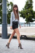 Zara top - Gas shorts - Zara heels