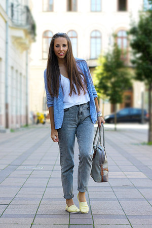 pull&bear jeans - TOMS shoes - Guess bag - Springfield top - pull&bear cardigan