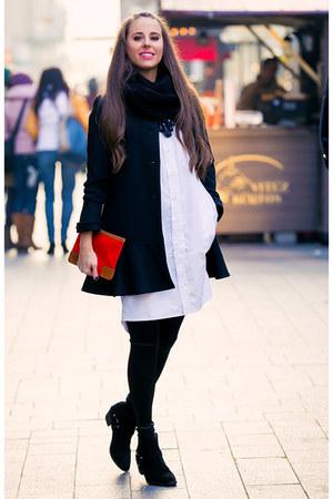 Mango boots - Printa dress - Zara coat