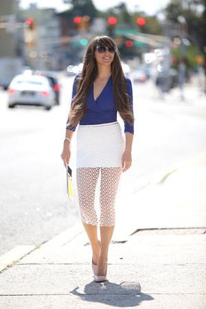 FreyWille bracelet - Navona Fashion skirt - Navona Fashion top - Mango heels