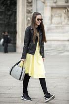 CAKO dress - Stradivarius jacket - Alma Abonyi bag - Adidas Tubular sneakers
