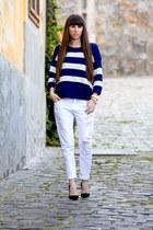 Gap sweater - Zara jeans - Manolo Blahnik heels