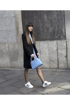 Gant jacket - Gant shirt - Louis Vuitton bag - Adidas sneakers - Gant skirt