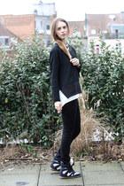 Zara blouse - Zara blouse - april 77 pants - isabel marant knock off sneakers