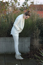 Zara blazer - Isabel Marant sneakers - Topshop jumper