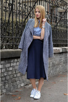 heather gray wool beginning boutique coat