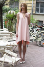 Light-pink-cut-out-nanaa-dress-off-white-studded-zara-heels
