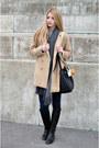 Black-jessica-buurman-boots-tan-camel-sheinside-coat-navy-skinny-h-m-jeans