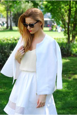 white white Anna Daubner jacket - white white Anna Daubner skirt