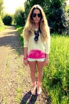 pastel Primark socks - crochet boo hoo shorts - clubmaster Ray Ban sunglasses