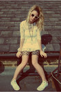 Lace-topshop-dress-leopard-lycra-vintage-from-ebay-shorts