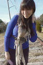 Blue-old-navy-shirt-brown-tieka-scarf-silver-h-m-belt-beige-target-h-m-tig