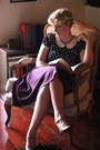 Navy-modcloth-t-shirt-purple-high-waisted-modcloth-skirt