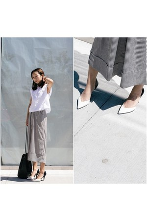 Zara top - building block bag - 31 Phillip Lim pumps - Zara pants