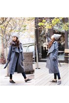 asos coat - True Religion jeans - American Apparel hat