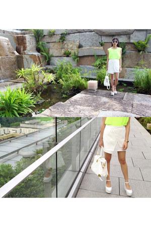 white bag sabo skirt bag - white flatforms Office Shoes London wedges