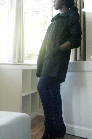 H&M coat - Primark jeans - H&M shoes
