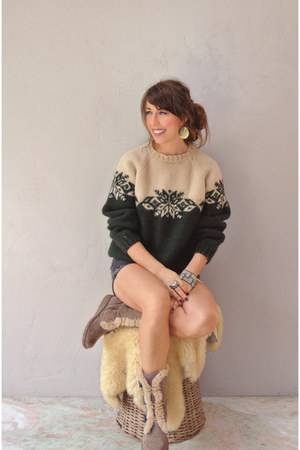 forest green Firegypsy Vintage sweater