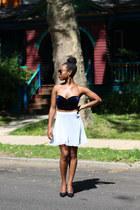white Jolie Coquette skirt - navy Urban Outfitters top - black vintage heels