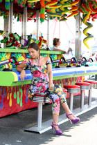 Betsey Johnson jumper - purple Aldo heels