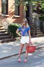 Red-celine-bag-white-zara-skirt-red-forever-21-heels-blue-ray-ban-glasses