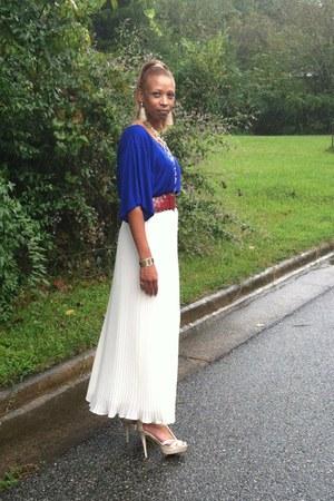 blouson top MNG by Mango blouse - Theory skirt