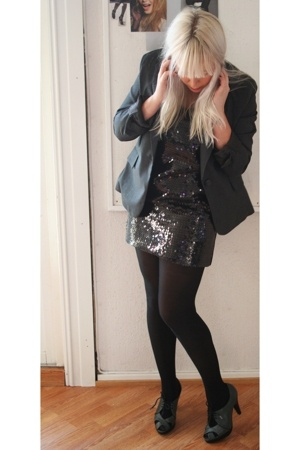 H&M blazer - H&M dress - Top Shop shoes