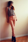 Black-club-couture-boots-light-pink-high-waisted-sirens-jeans