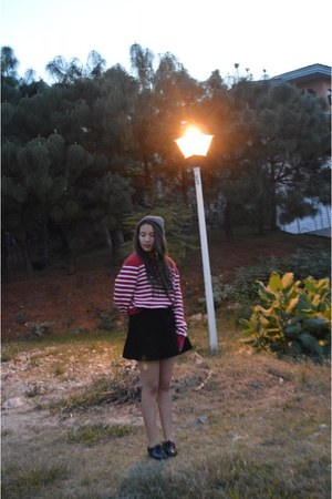 Zara shoes - Forever 21 sweater - American Apparel skirt